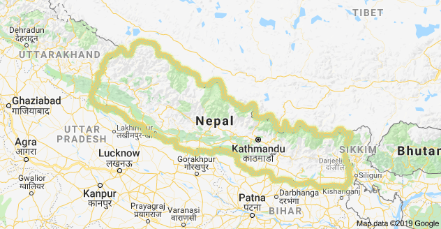 Map of Nepal with Himalayan Holyland Treks and Expedition