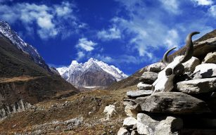 Manaslu Mountain View during trek