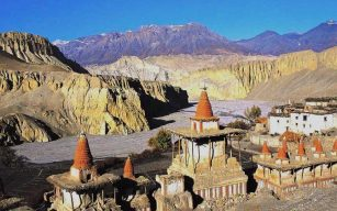 upper mustang trek view from top